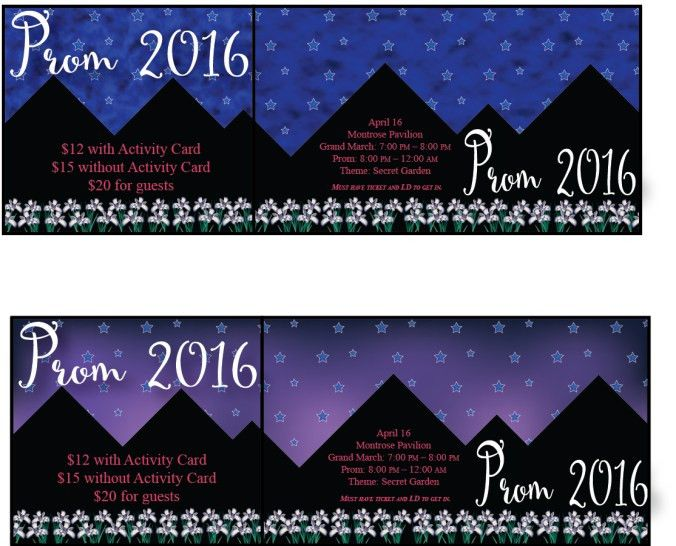Prom Tickets | Michael Jones Design