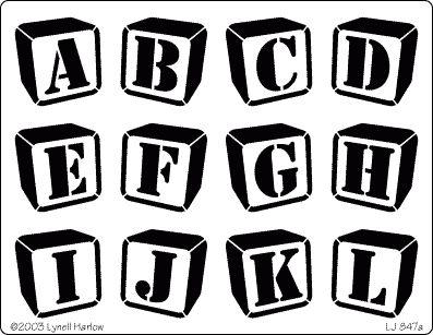 Dreamweaver Jumbo Metal Stencil - Block Letters A - Z & Block ...