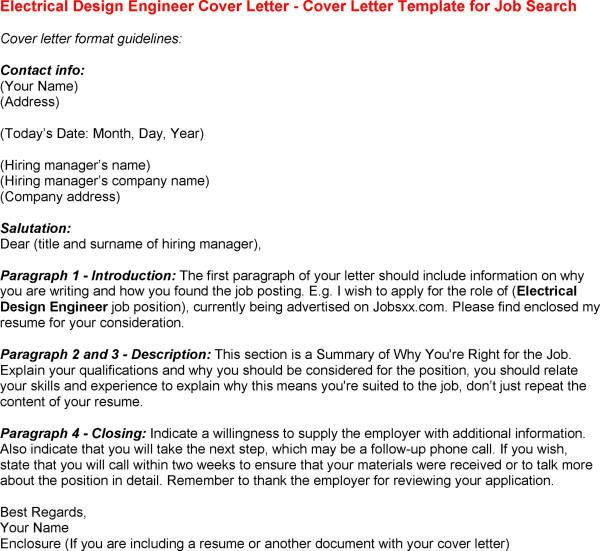 electrical engineering cover letter sample within Electrical ...