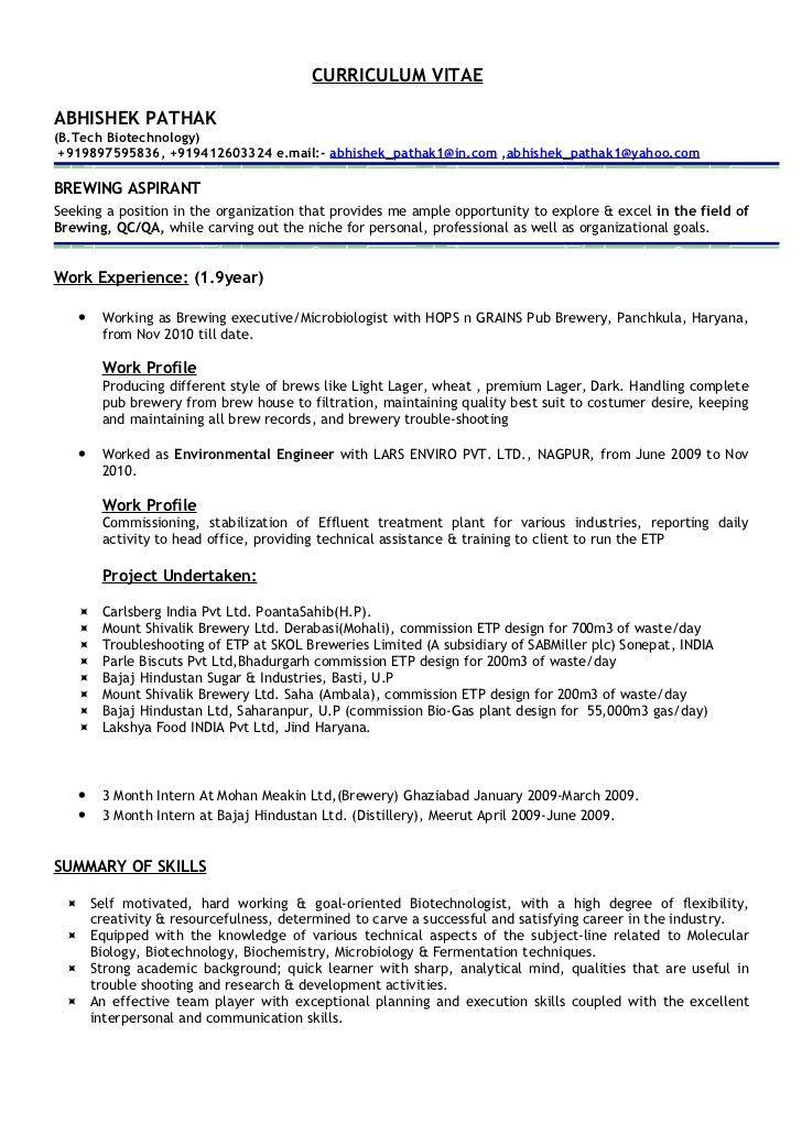 plant biotechnology resume resume abhishek pathak designing your