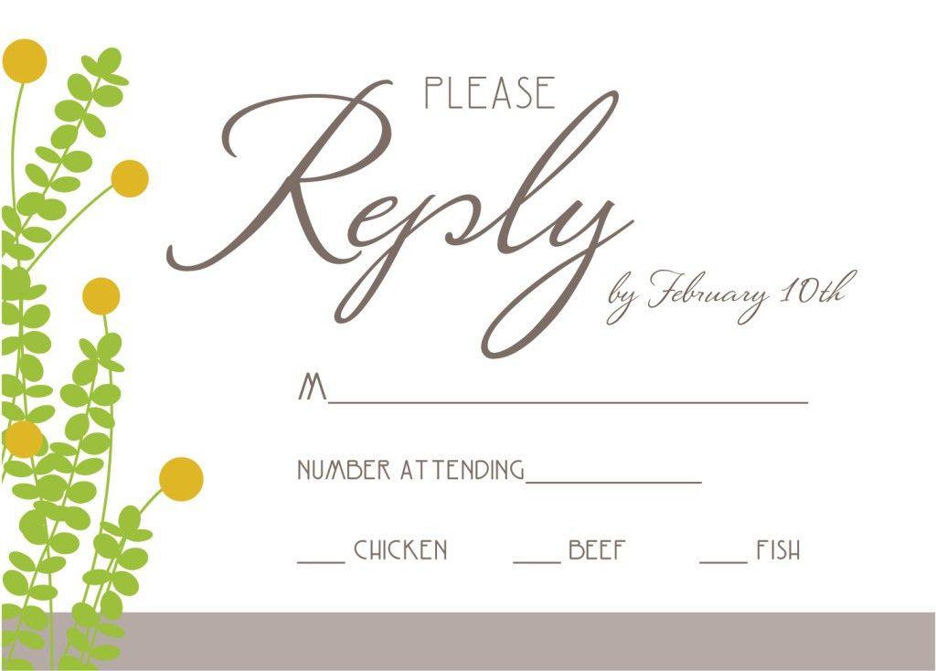 wedding rsvp invitation wording samples | Anniversary Invitation ...