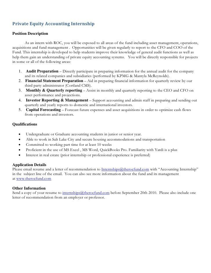 internship resume cover letter sample accounting internship cover ...