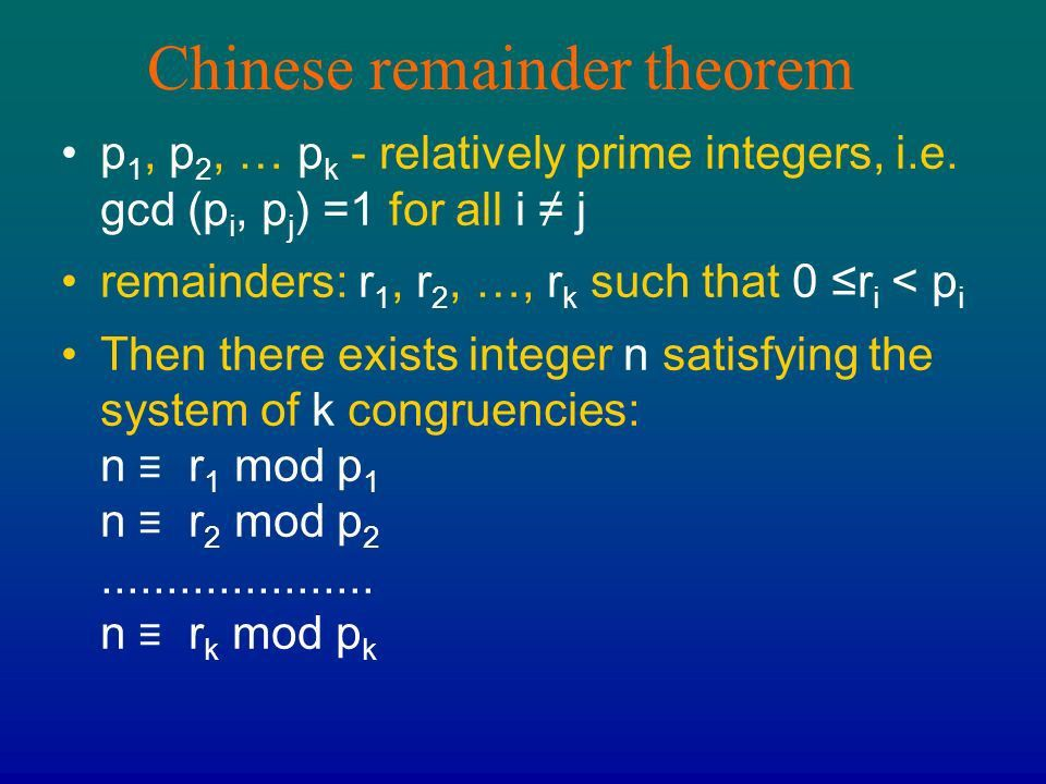 Chapter 4 Number Theory in Asia The Euclidean Algorithm The ...