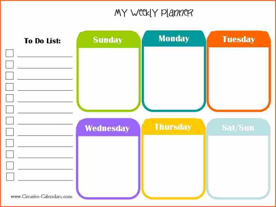 word template weekly planner - Budget Template Letter