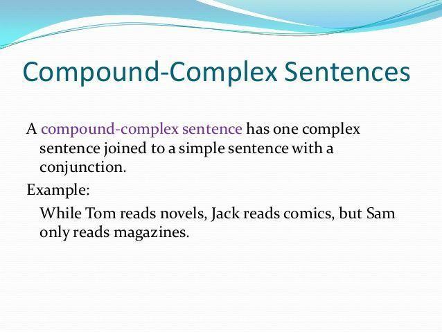 compound-complex sentence | Rhetoric | Pinterest | Compound ...