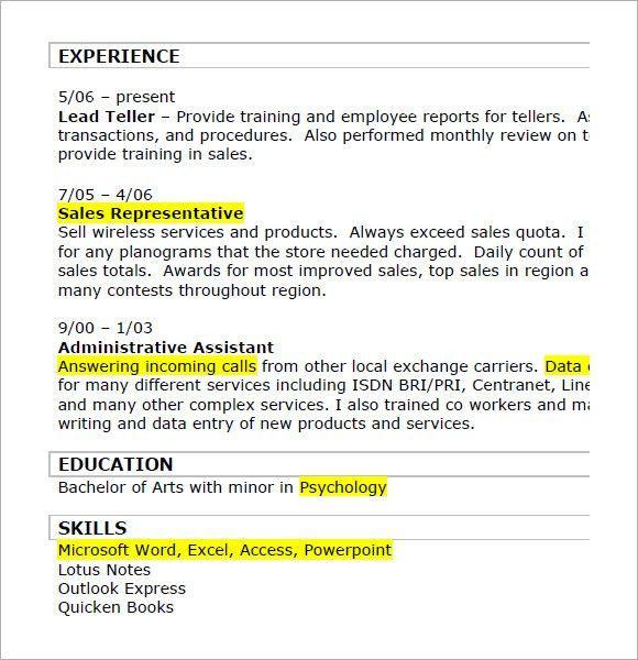 Retail Resumes – 7+ Free Samples , Examples , Format