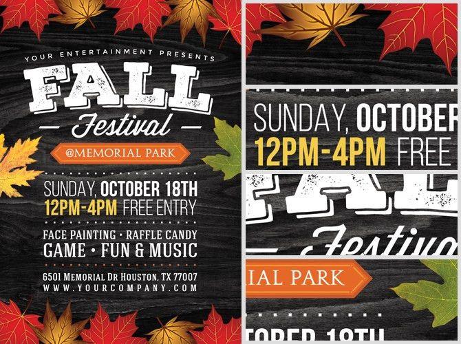 Fall Festival Flyer Template 2 - FlyerHeroes