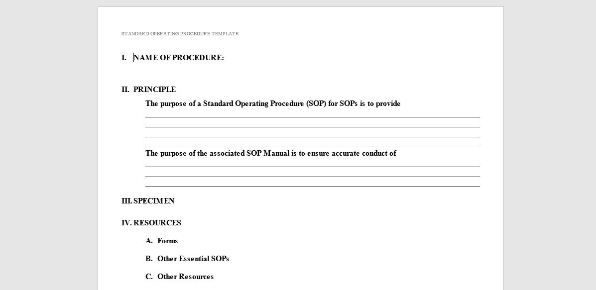 20 Free SOP Templates to Make Recording Processes Quick and ...
