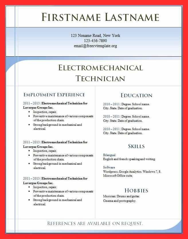 cv format in ms word | good resume format