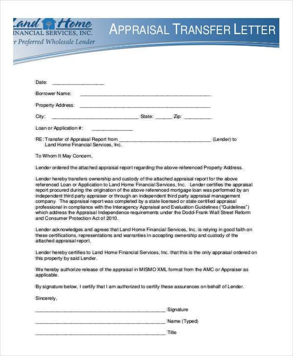 Appraisal Transfer Letter Template - 5 Free Word, PDF Format ...