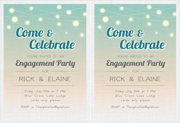 39+ Engagement Invitation Designs | Free & Premium Templates