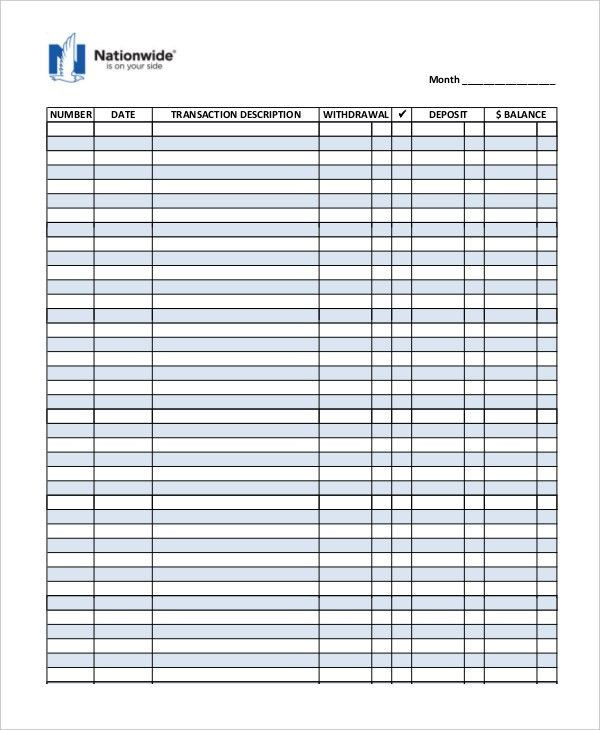 Sample Check Register Template - 10+ Free Sample, Example, Format ...