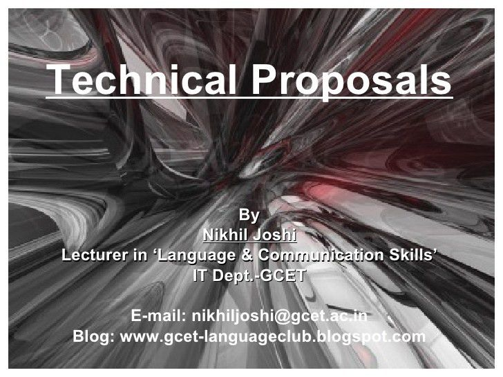 10 technical proposal