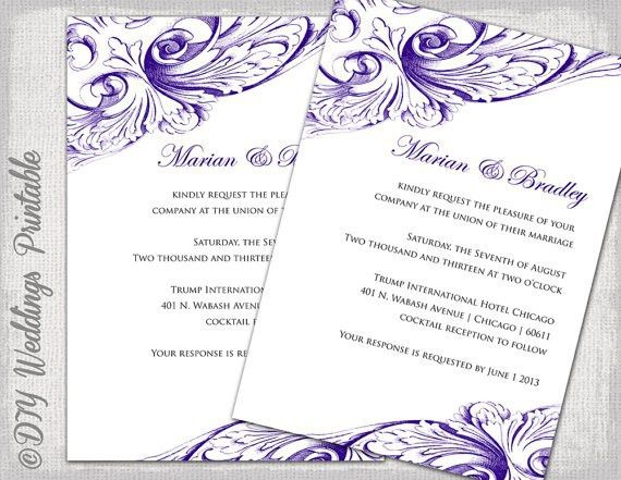Blank Wedding Invitation Templates For Microsoft Word | Lake Side ...