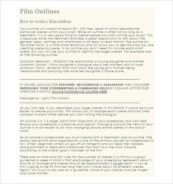 Script Outline Template | Screenplay Example The Godfather Sample Script Page Writing