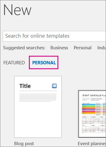 Where are my custom templates? - Office Support