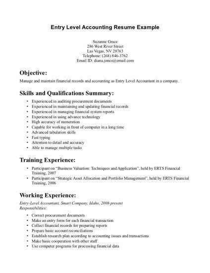 17+ Sample Resume Objectives For Entry Level | Entry Level ...