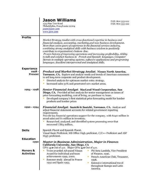Good Resume Examples, updated resume formats. google resume ...