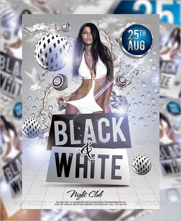 12+ Black and White Flyer Templates & PSD Designs! | Free ...