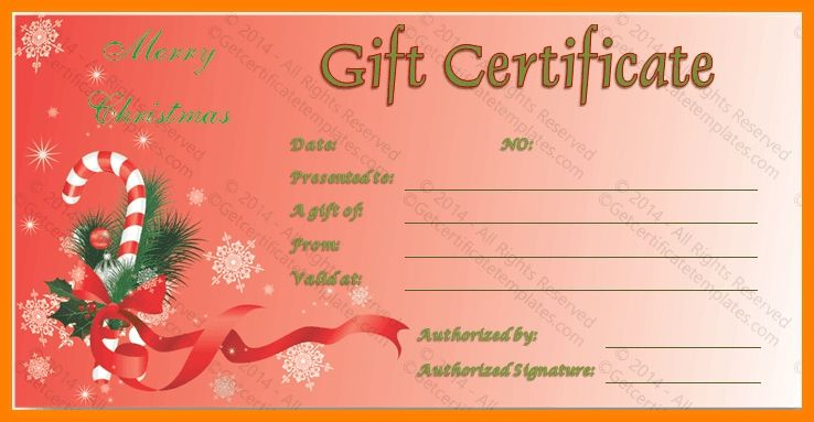 6+ christmas gift certificate template free download | resume ...