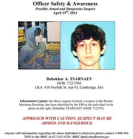 FBI Issues Wanted Poster For Second Boston Bombing Suspect Hot ...