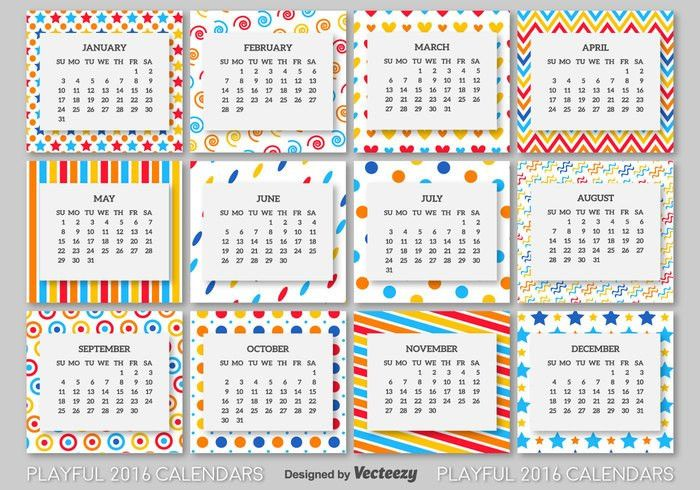 2016 calendar template - Download Free Vector Art, Stock Graphics ...