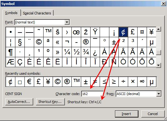 Inserting Special Character Codes | Productivity Portfolio