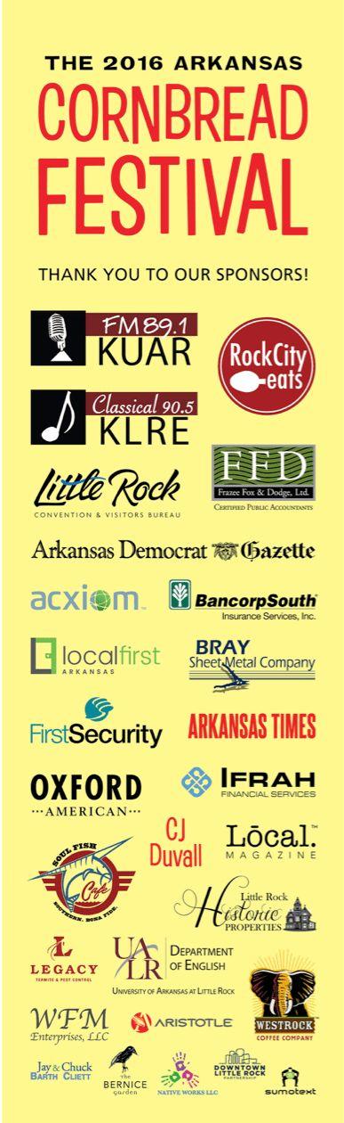Sponsor Form   Arkansas Cornbread Festival