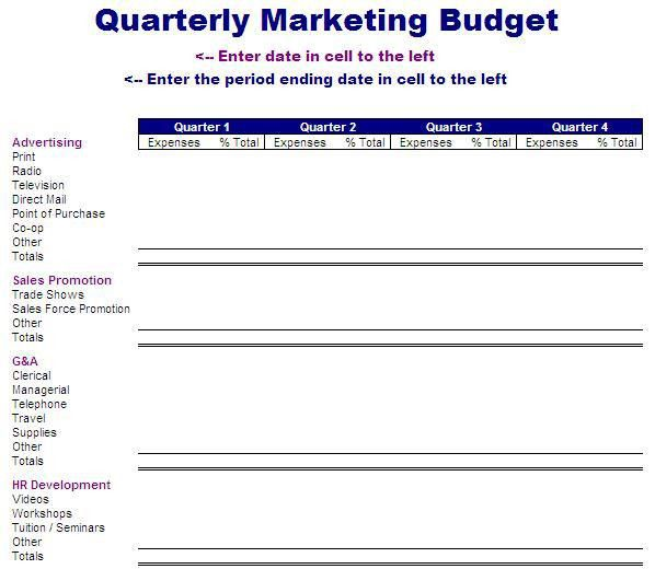 Quarterly Marketing Budget Template | Free Layout & Format