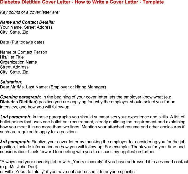 8 Dietitian Cover Letter Cover Letter cover letter for dietetic ...
