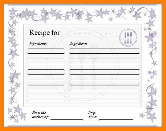 7+ free recipe card template for microsoft word | packaging clerks