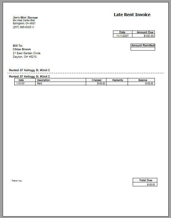 Template and Examples of Car Rental Invoice : Vlcpeque