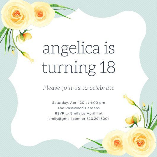 18Th Birthday Party Invitations | wblqual.com