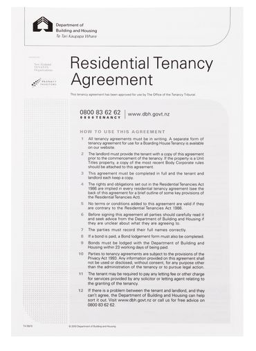 Residential Tenancy Agreement Form - 985