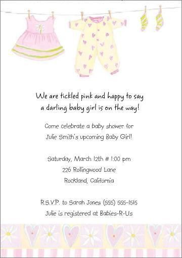 samples of baby shower invitations nappy invitation sample - Baby ...