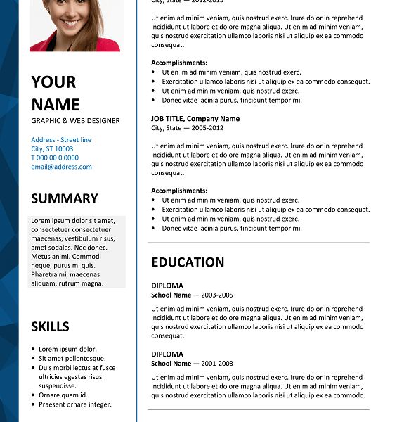 Resume Templates In Word 2003. ten great free resume templates ...