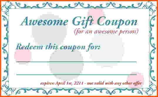 blank coupon