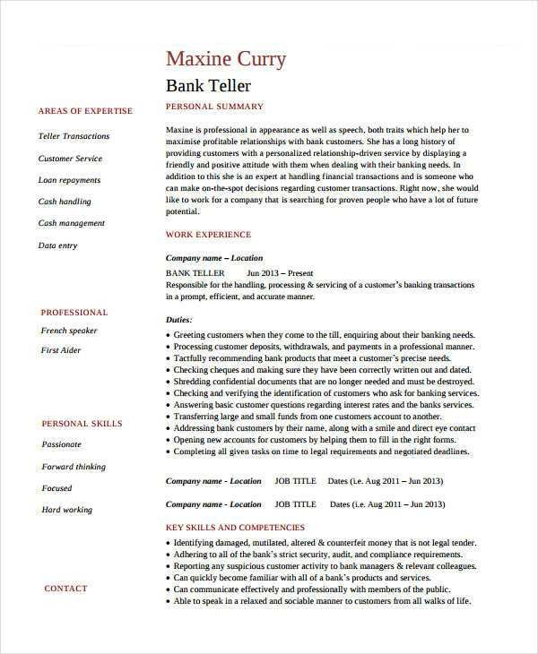 Teller Resume. Banking Cover Letter Sample | Cover Letter Sample ...