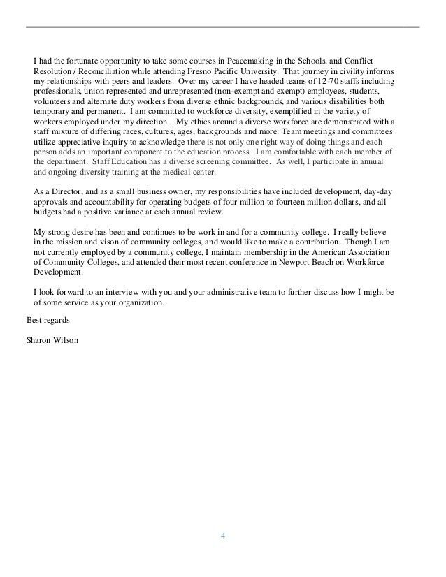Cover letter closing best regards