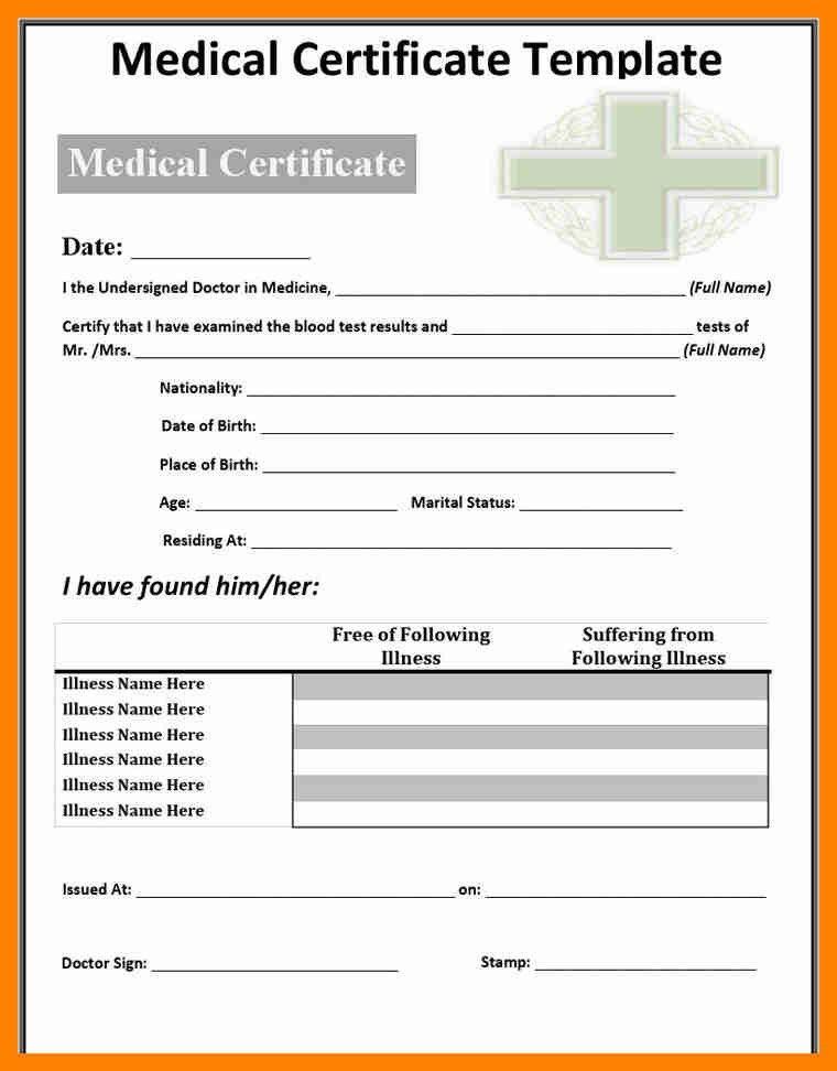 5+ medical certificate pdf   resumes great