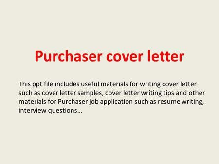 Computer operator cover letter This ppt file includes useful ...