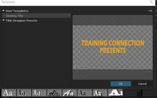 Creating Text Templates in Adobe Premiere Pro | Training Connection