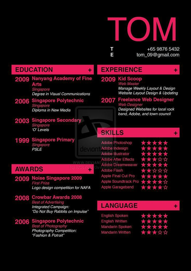 17 best Infographic resume examples images on Pinterest | Cv ...