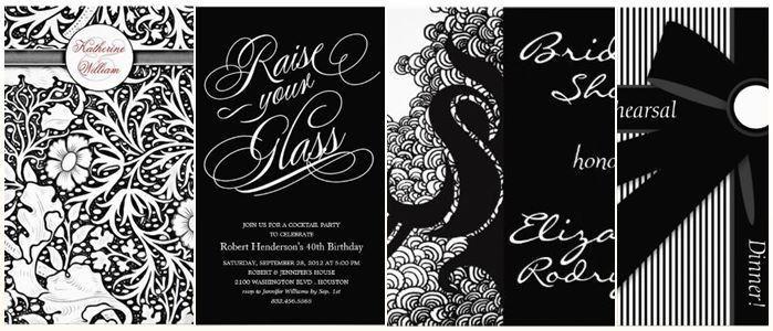 Stylish Black White Dinner Party Invitations ⋆ partyinvitecards ...