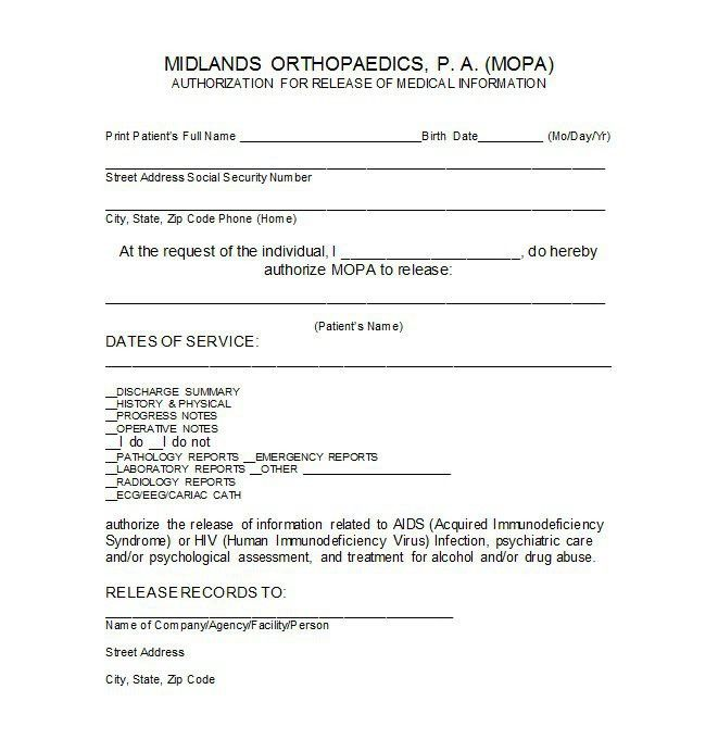 Emergency Release Form. Sample General Release Form - 10+ Download ...