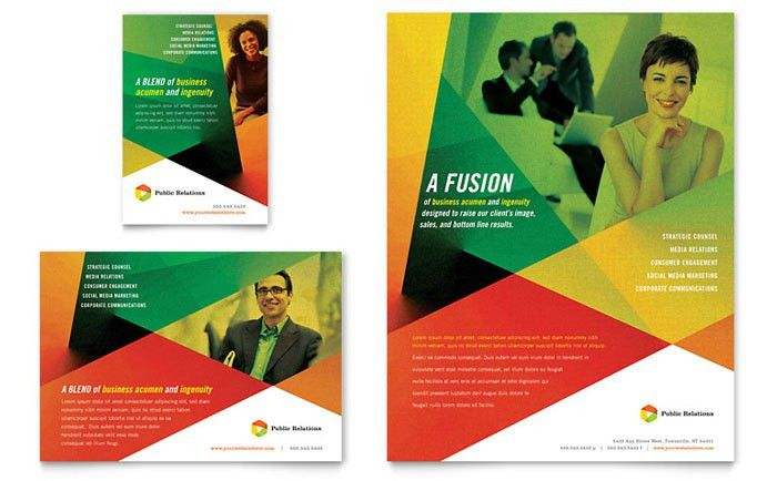 Public Relations Company Flyer & Ad Template Design