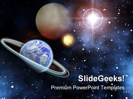 presentation template space earth planet view from space ...
