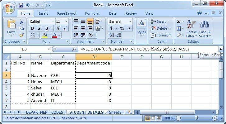 VLOOKUP EXAMPLE IN EXCEL - Javadomain