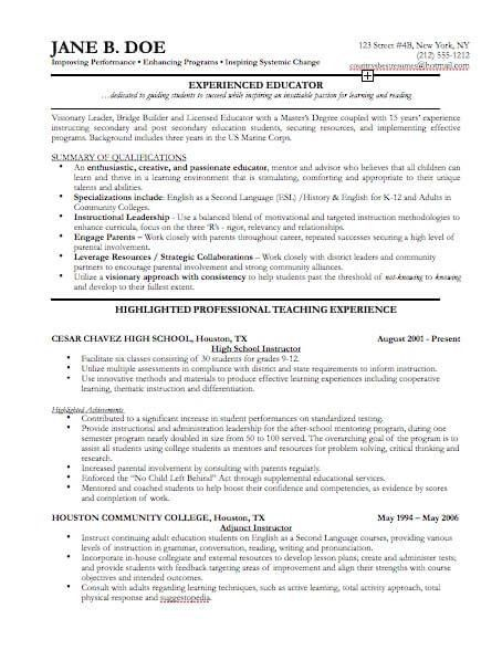 Professional Resumes Examples. Examples Of Professional Resumes ...