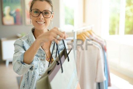 Shopping Bags Designer Clothing Stock Photos & Pictures. Royalty ...